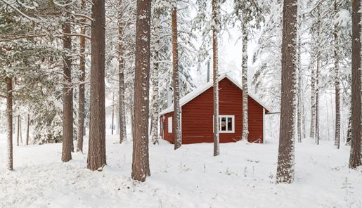 Loggers Lodge in winter, Swedish Lapland