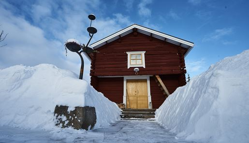 Lapland Guesthouse in winter, Swedish Lapland