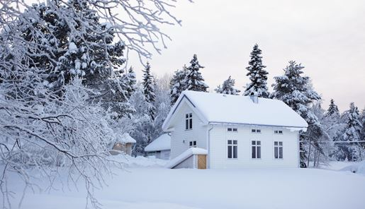 Tolonen House in winter, Art Hotel, Swedish Lapland