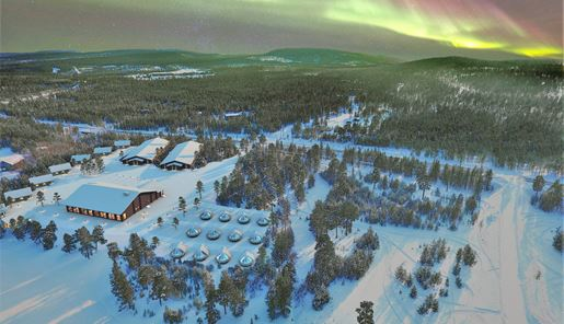 Wilderness Hotel Inari - Aerial view .jpg