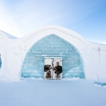 The world famous Ice Hotel in Swedish Lapland