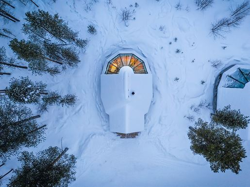 Aurora Cabin From Above