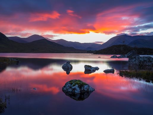 Sunset At Lochan Na H Achlaise On Rannoch Moor South West Highlands Visitscotland Kenny Lam