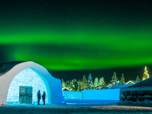 Large Icehotel Northern Lights