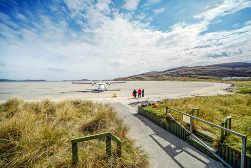 Traigh Mhor Beach on the Isle Of Barra, Outer Hebrides, Scotland