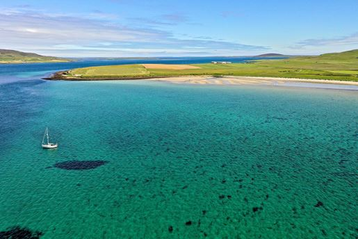 Aikerness Bay on the northwest coast of Mainland Orkney in Scotland