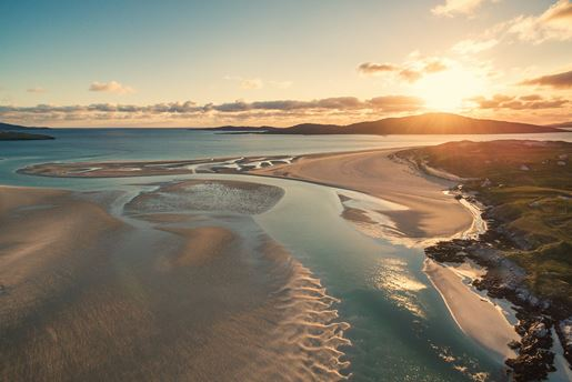 The beach at Luskentyre on the Isle of Harris, Outer Hebrides, Scotland