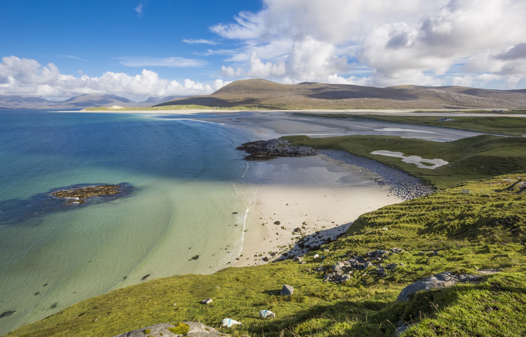 Luskentyre sands on the Isle of Harris, Outer Hebrides, Scotland