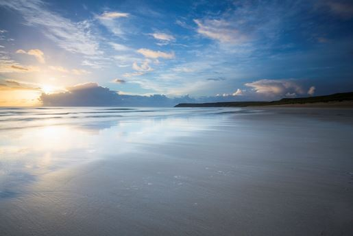 Tolsta Beach on the Isle of Lewis in the Inner Hebrides, Scotland