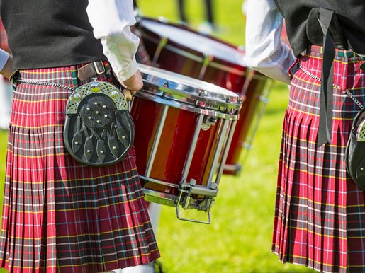 Pipe And Drum Band At The North Berwick Highland Games Visitscotland Kenny Lam