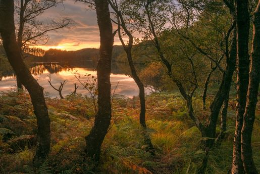 Sunset Over Loch Trool Glen Trool Galloway Visitscotland Damian Shields