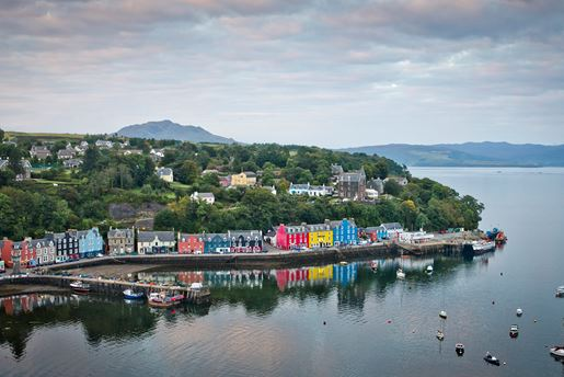 The town of Tobermory on the island of Mull in the Inner Hebrides, Scotland